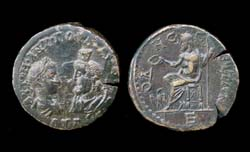 Thrace, Odessus, Gordian III and Serapis, Zeus Reverse