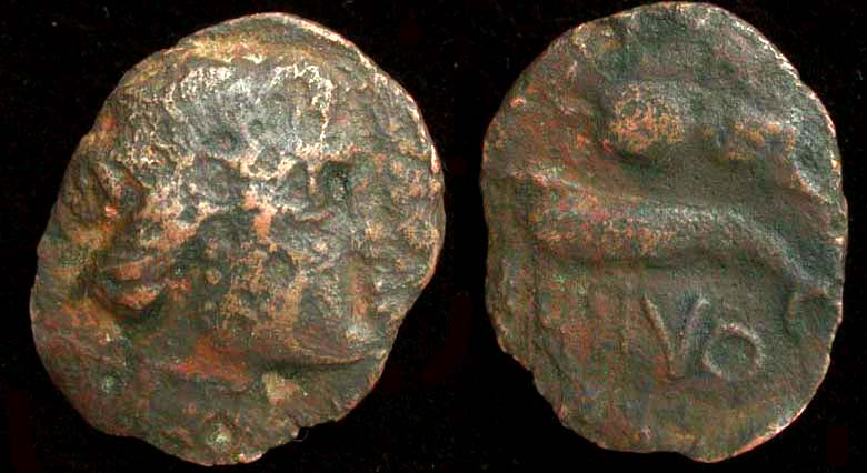 Olbia, Sarmatia city issue, Eagle on Dolphin 400-370 BC