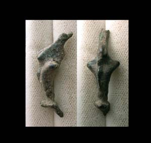 Brooch, Bronze Age, Celtic, Dolphin, c. 800-300 BC