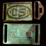 US Civil War Confederate States Buckle