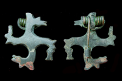 Brooch, Swastika, Zoomorphic Horses, c. 1st-2nd Cent AD