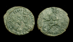 King Ininthimeus, 238/239 A.D. Two Denarii, facing busts