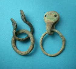 Belt or Strap Mounts, Loop terminals, c. 1st - 2nd Cent.