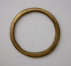 Bronze Age Celtic Ring Money, Restored, c. 600-400 BC