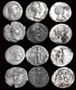 "Six Roman Denarius Lot #2 ""Guys and Dolls"""