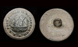 Button, Officer's, Danube Steam Ship Company, c. 1850