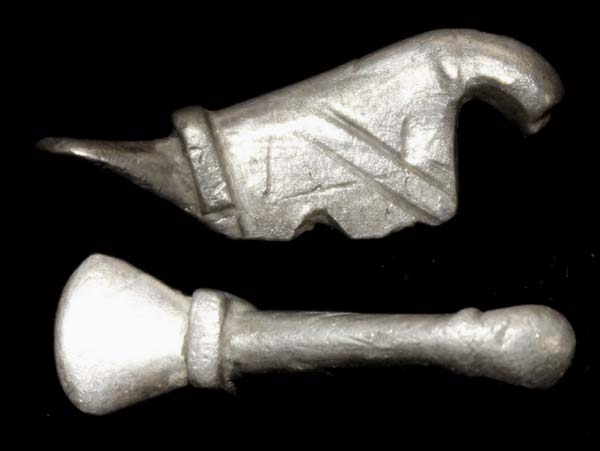 Enigmatic Danubian Celt Silver Duck ca. 1st Cent AD