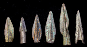 Bronze Age, Greek/Scythian Arrow Point 6-Pack, c. 7th-1st C. BC