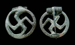 Brooch, Swastika, Open-work type, ca 1st-2nd Cent AD
