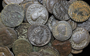 Cleaned Roman Coins
