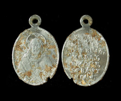 Pendent, Roman Catholic, Poland, Jesus Christ and Prayer, ca. 19th Century