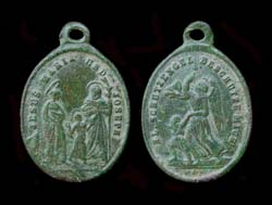 Pendent, Roman Catholic, Germany, JMJ and Angel, ca. 19th Century