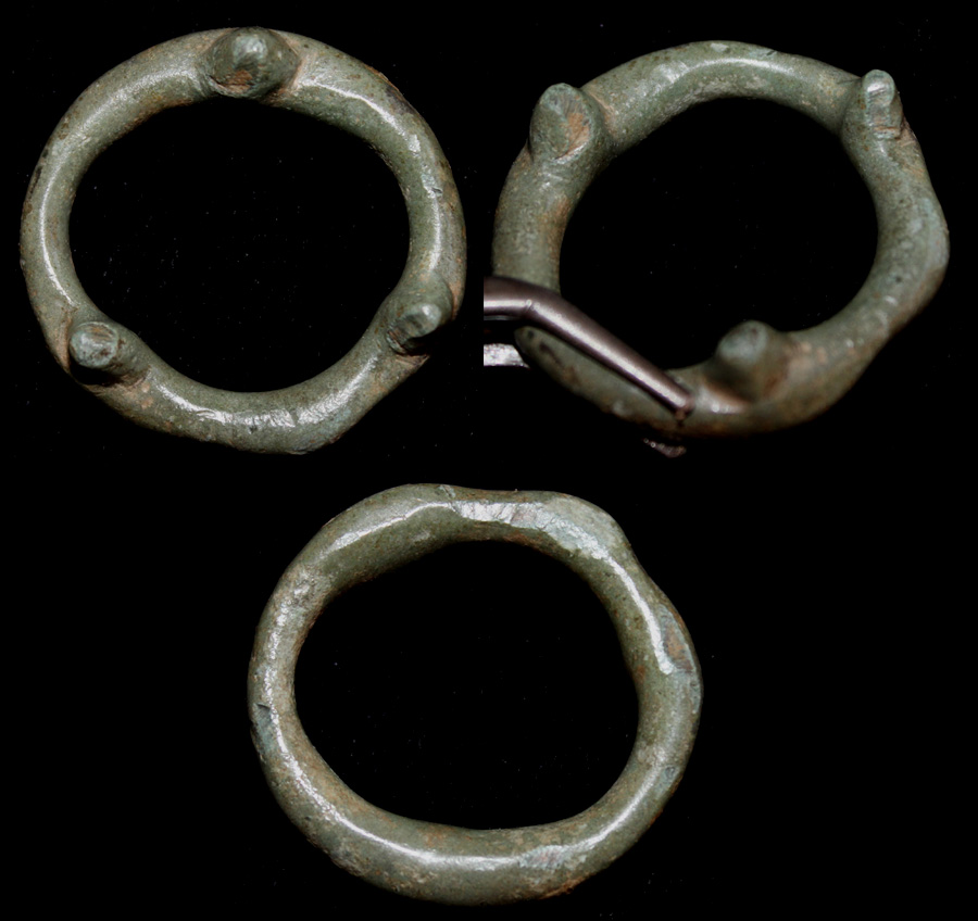 Celtic Proto Ring Money with Three Knobs, c. 600-400 BC