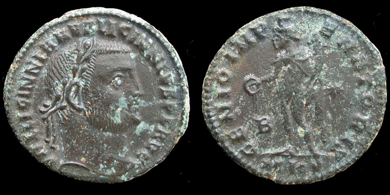 Licinius I, Follis, Genio Imperatoris, Cyzicus Mint