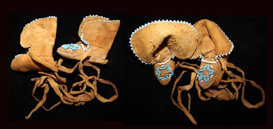 Beaded Doll or Infants Moccasins, ca. 19th Cent