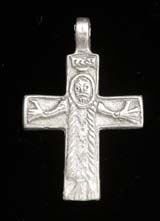 Great Moravia Cross Pendant, Sterling Silver Reproduction