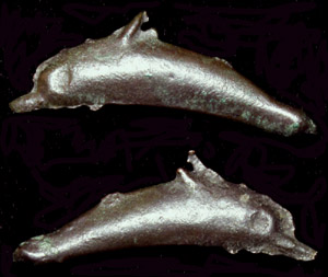 Olbia, Sarmatia, Cast Dolphin Money, c. 5th-4th Cent. BC