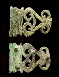 Strap End, Openwork, Officers, c. 2nd-3rd Cent