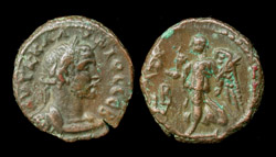 Roman Egypt, Claudius II Gothicus, Nike advancing left