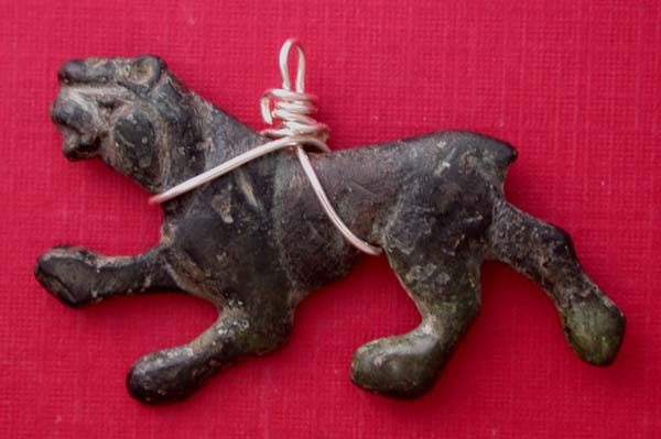 Celtic Tribes Panther Necklace Pendant, ca. 2nd-1st Cent BC