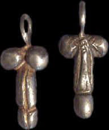 Good Luck Silver Phallus Charm/Pendent