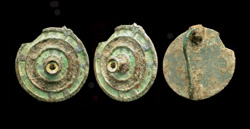 Brooch, Plate, Enameled, c. 2nd Cent. AD Rare