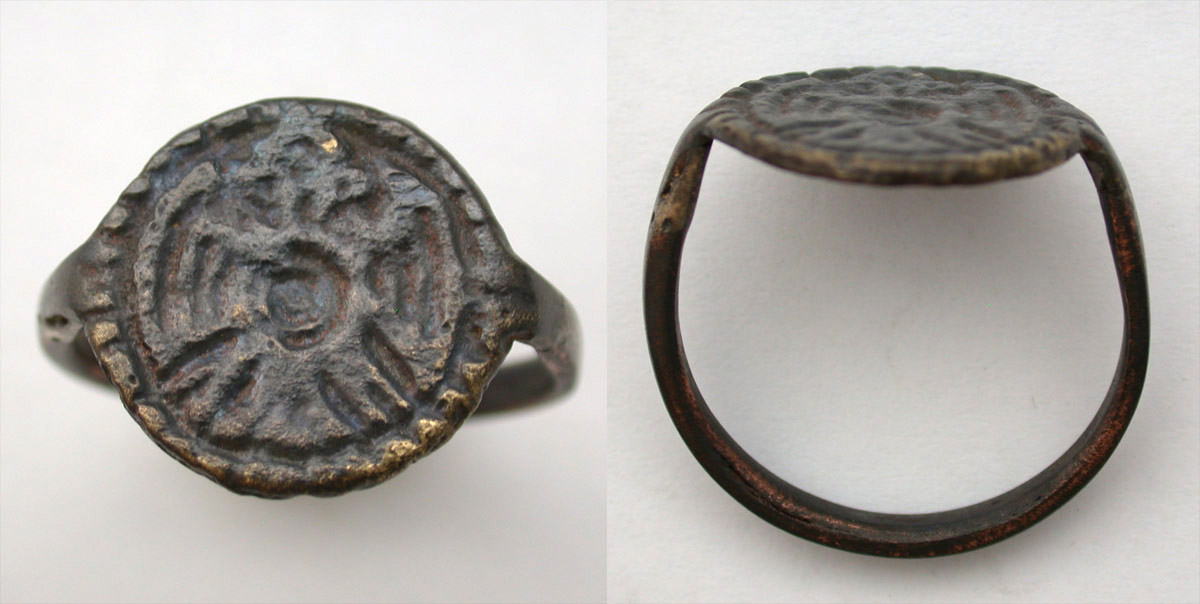 Ring, Avar, Men's, Double-headed Eagle, 6th-8th Cent