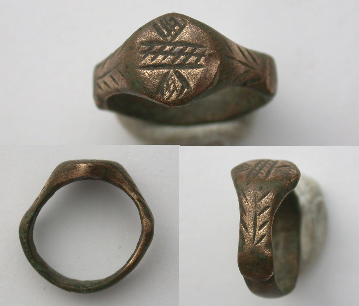 Ring, Roman, Ladies, River and Mountain motif, c. 3rd Cent