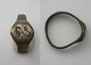 Ring, Roman, Unisex, Wings Intaglio, ca. 1st-3rd Cent
