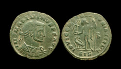 Maximinus II DAIA, Æ Reduced Follis, Siscia Mint, Jupiter reverse