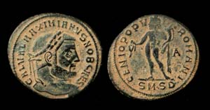 Galerius, as Caesar follis Genius Rx, Serdica Mint!