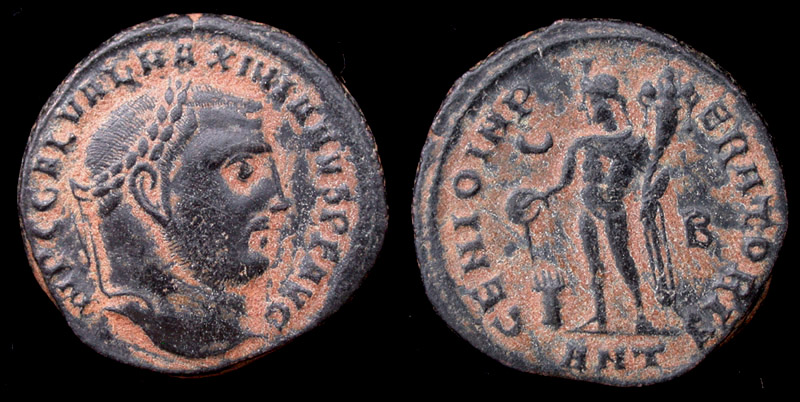 Galerius, Reduced Follis, Genio, Antioch Mint