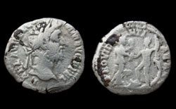 Commodus Denarius, Hercules and Africa
