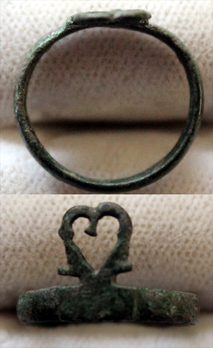 Ring, Medieval, Heart-shaped, Size 5