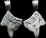 Greek River God Silver Charm