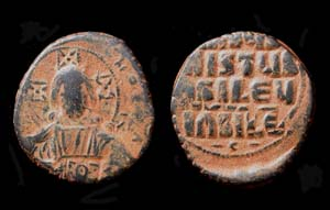 Constantine VIII, Class A3 anonymous follis, Christ