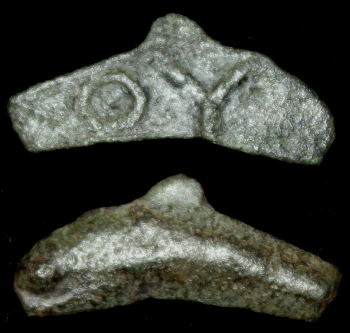 Olbia, Sarmatia, Cast Dolphin with ΘΥ reverse