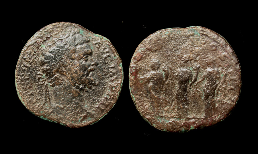 Septimius Severus Sestertius, Three Monetas