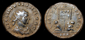 Licinius II, Æ3, Radiate, Virtus