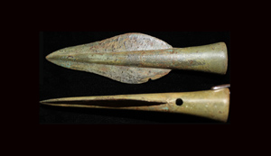 Bronze Age Socketed Spear Point, Urnfield Culture c. 1000-800 BC