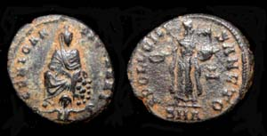 Anonymous Issue Tyche, River God and Apollo; Antioch Mint