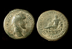 Thrace, Phillippopolis, Antoninus Pius, River-god reverse