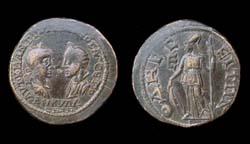 Thrace, Odessus, Gordian III and Tranquillina, Athena reverse